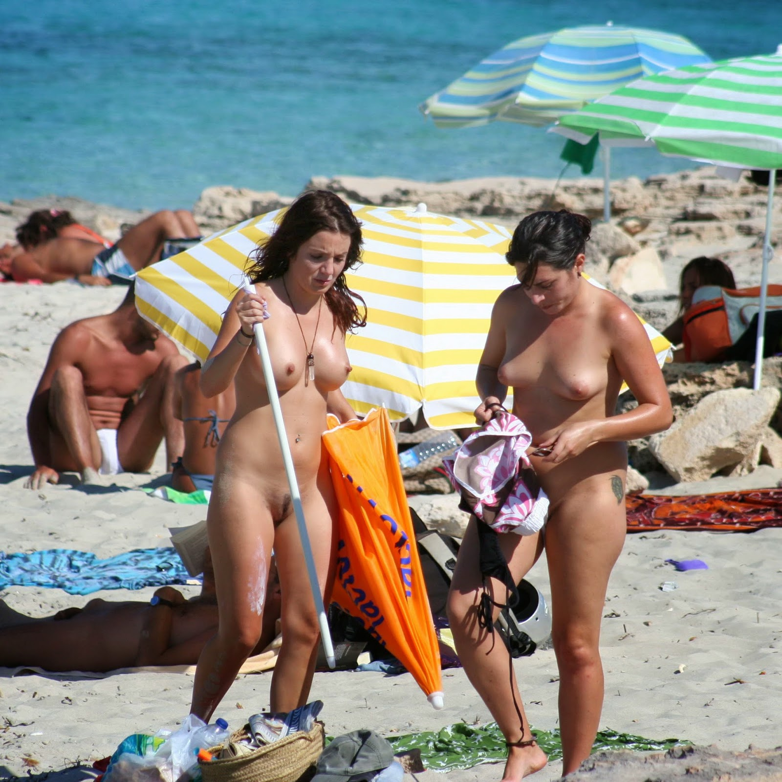 from Ridge nake girl on the beach