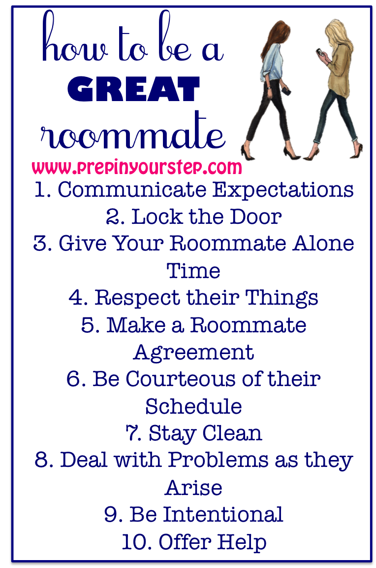 Prep In Your Step How To Be A GREAT Roommate