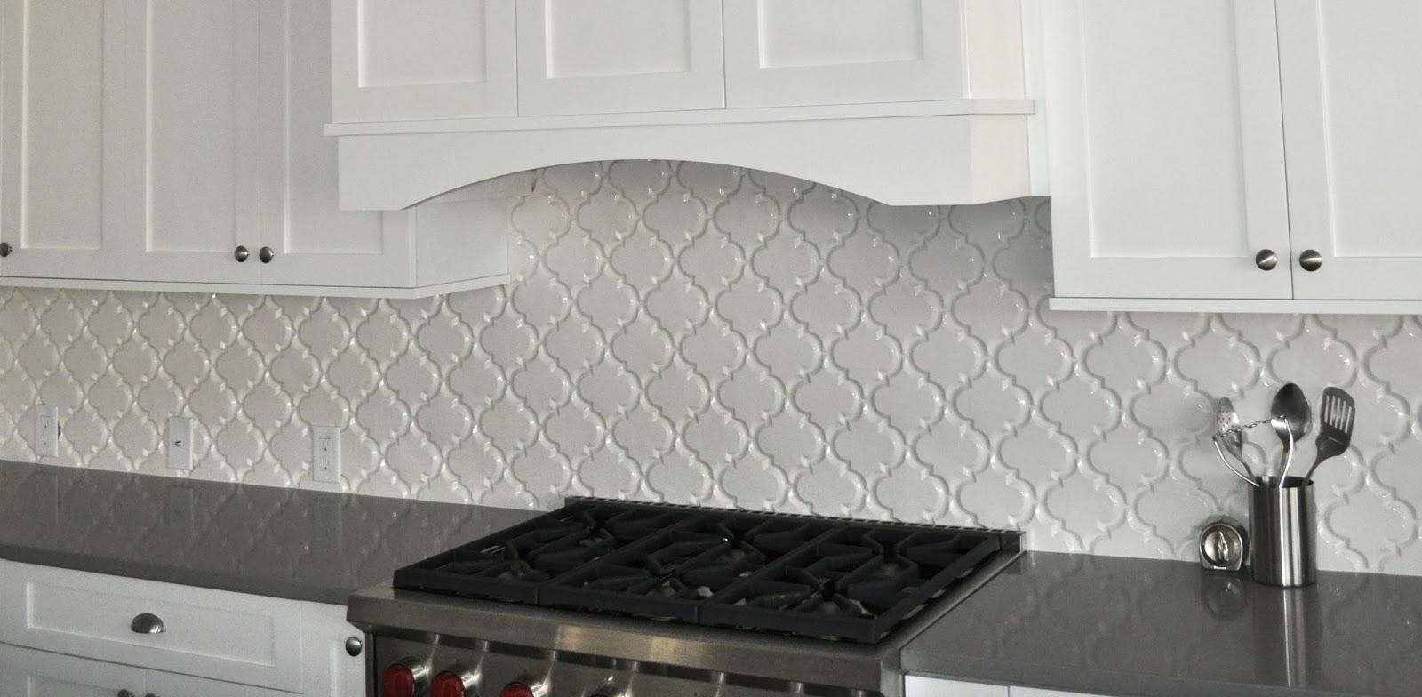 Our new place january 2014 for Beveled arabesque tile backsplash