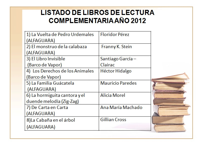 lecturas complementarias: