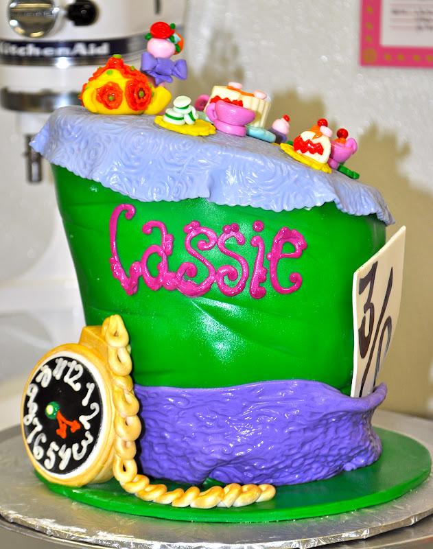 Leahs Sweet Treats Mad Hatter 30th Birthday Cake