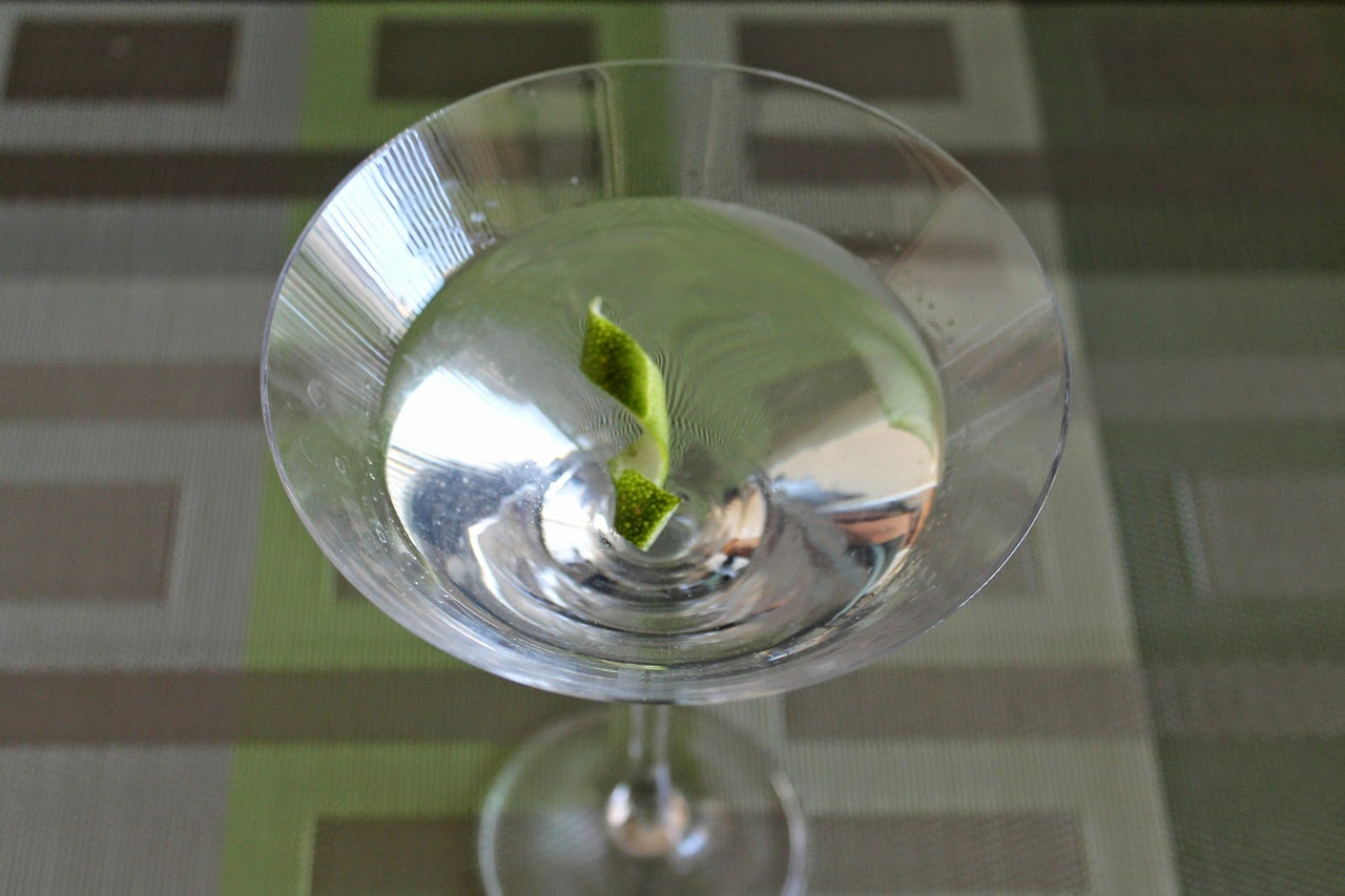 G&T Martini with Lime Bitters