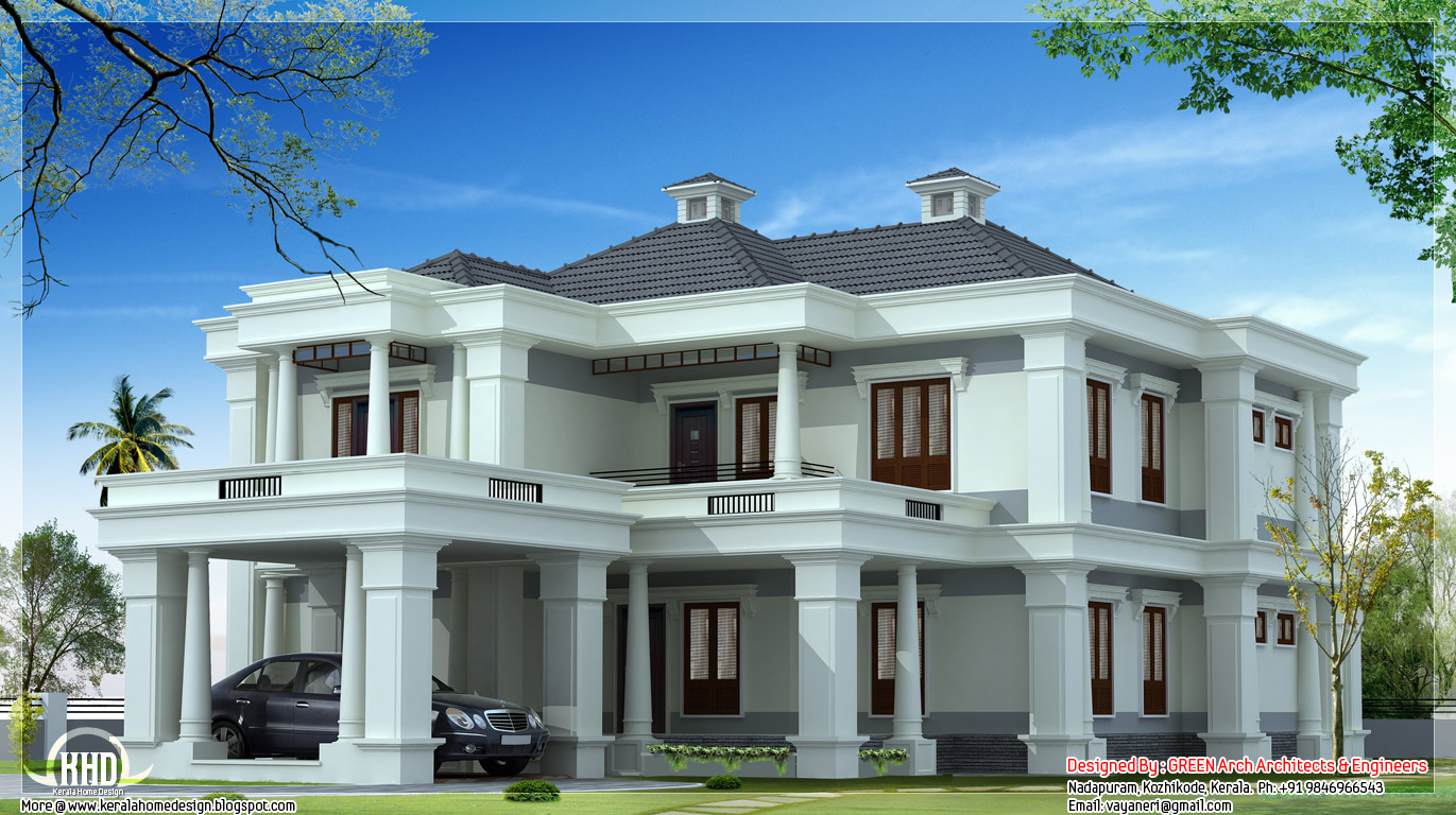 Luxury kerala home plan 3900 home appliance for Luxury house plans with photos