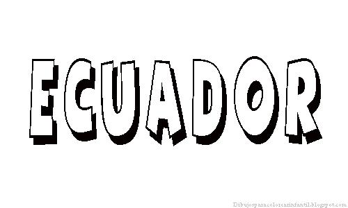 de Países de América del Sur para colorear: Ecuador ~ Dibujos para