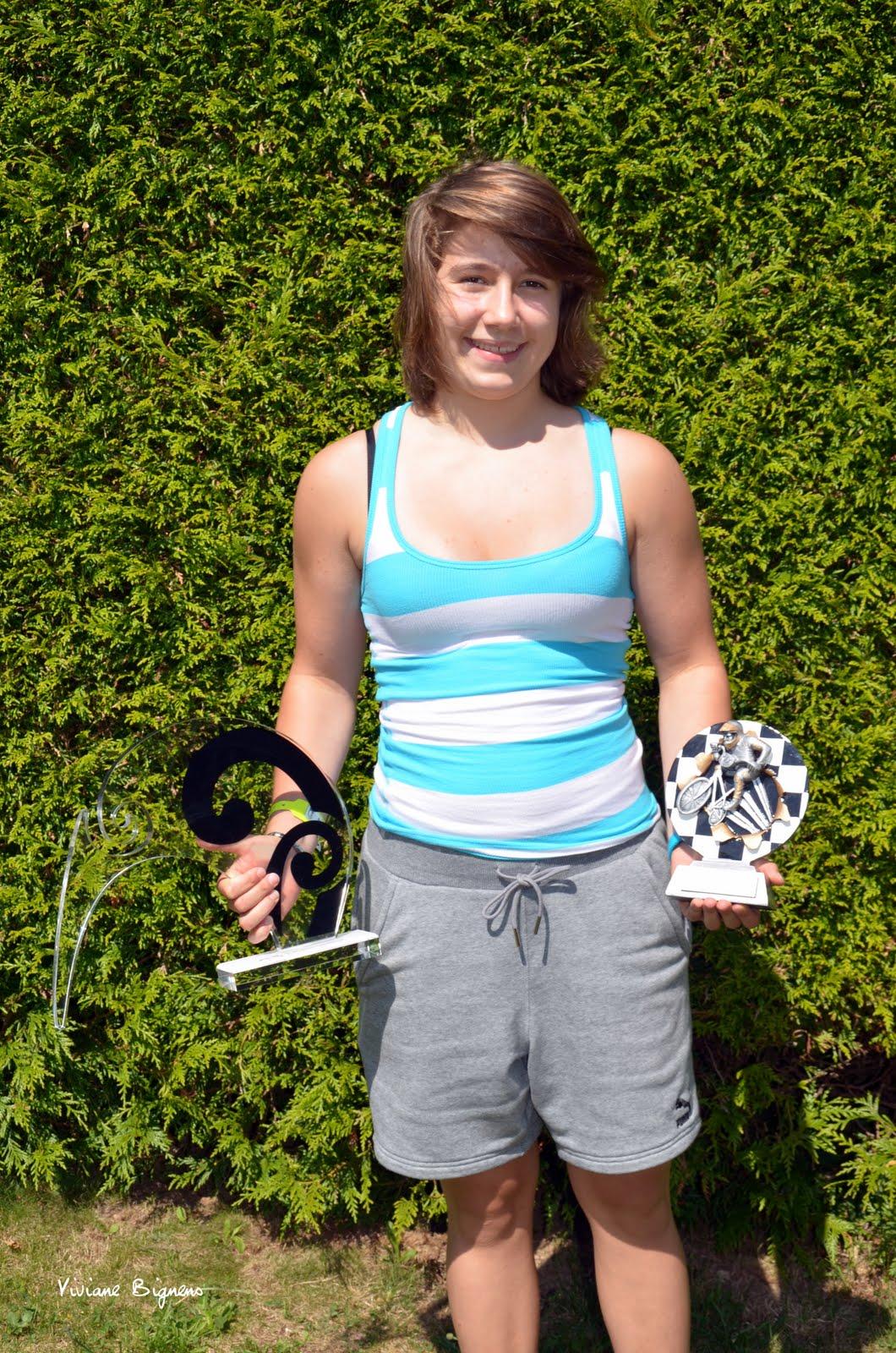Christelle Boivin championne d'Europe de BMX 2013 girl 16 championne du monde de BMX 2013 girl 16