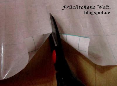 DIY Aufbewahrungs-Box - Folie passend zuschneiden
