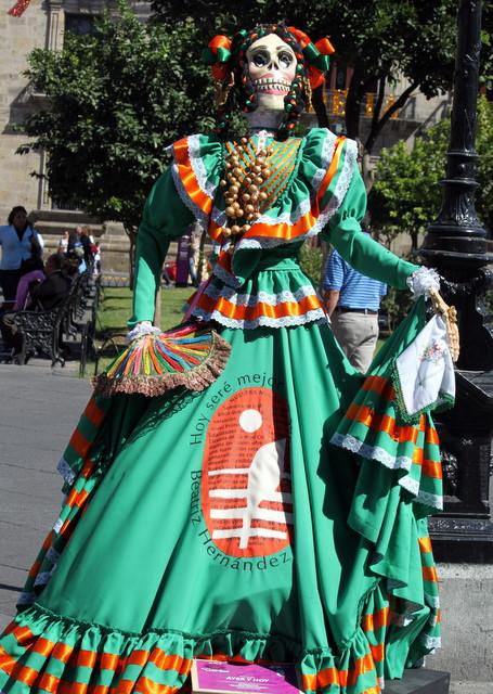 Catrina expuesta en las calles de Guadalajara (México) Foto Julie Sopetrán