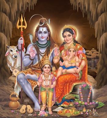 Lord Ganesh family members