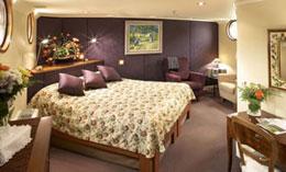 Cabin aboard Ultra Deluxe France Hotel Barge Prosperite