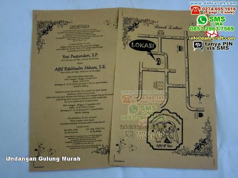 Undangan Gulung Murah Kertas Samson Bandar Lampung