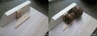 Topes para nivelar la pieza a cortar. enredandonogaraxe.com