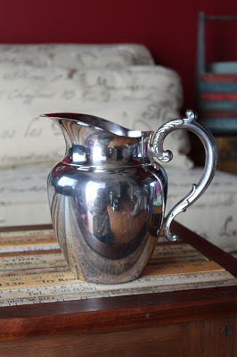 vintage silverplate pitcher from Goodwill Outlet  The Merry Magpie vintage