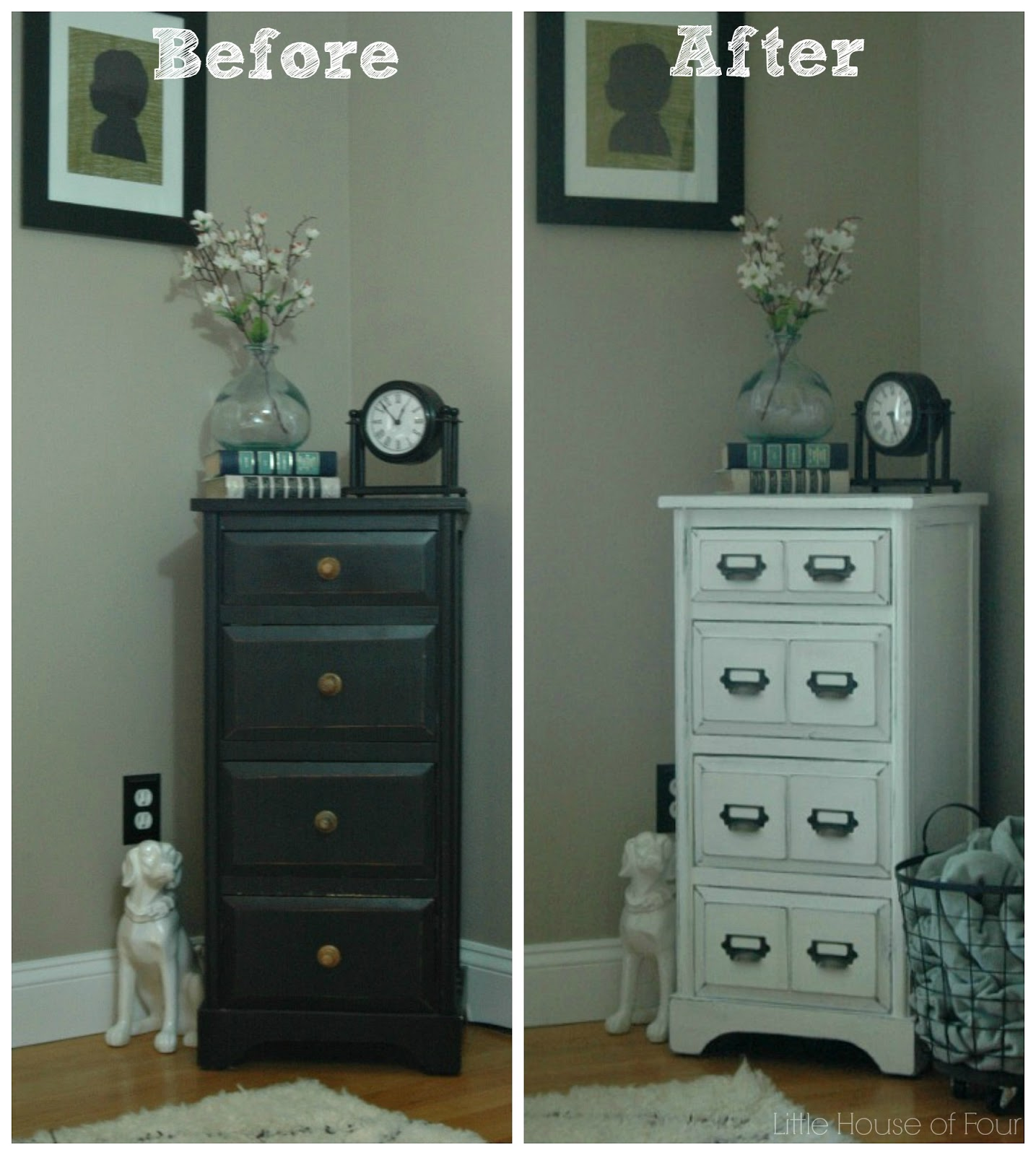 Little House Of Four Library Card Catalog Inspired Furniture Makeover
