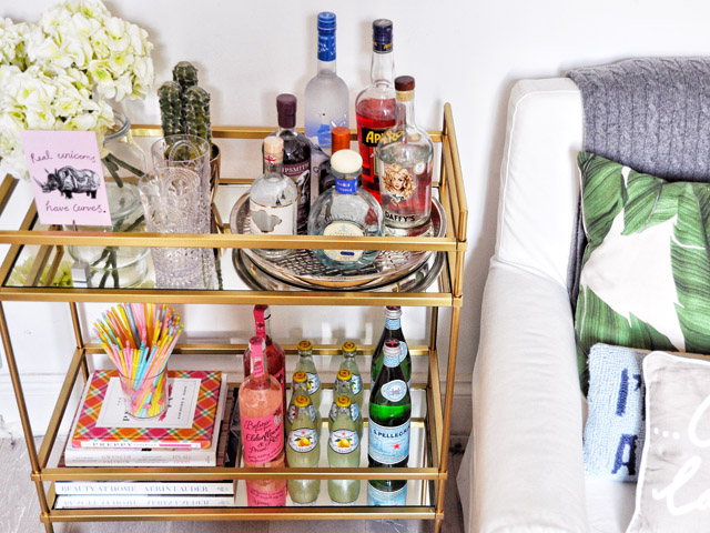 bar cart style - How To Style A Bar Cart