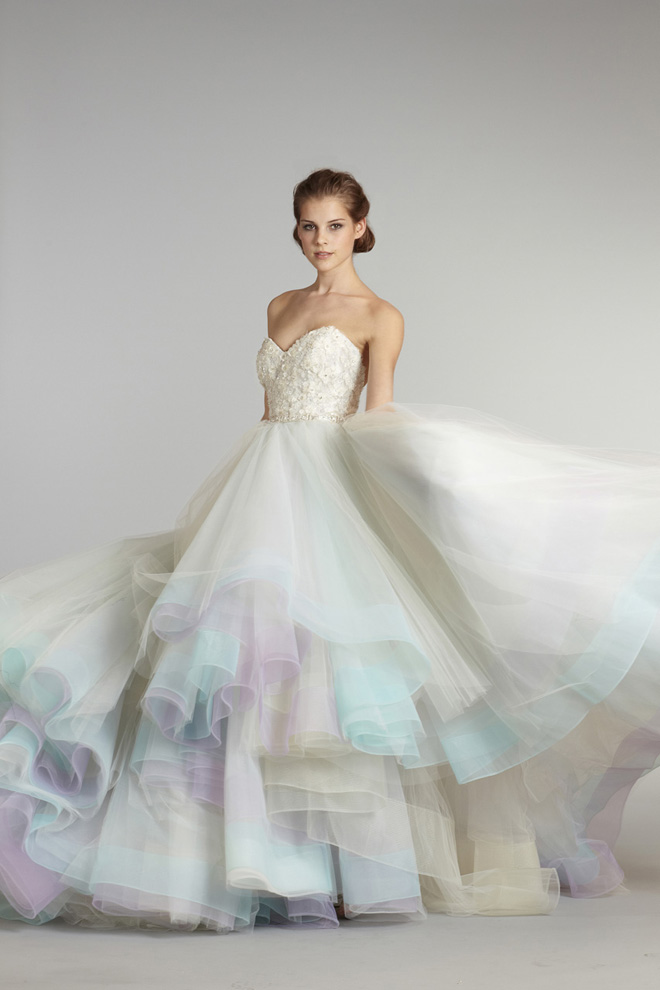 Ball Gown Wedding Dresses With Color : Dressybridal unique colored wedding gowns