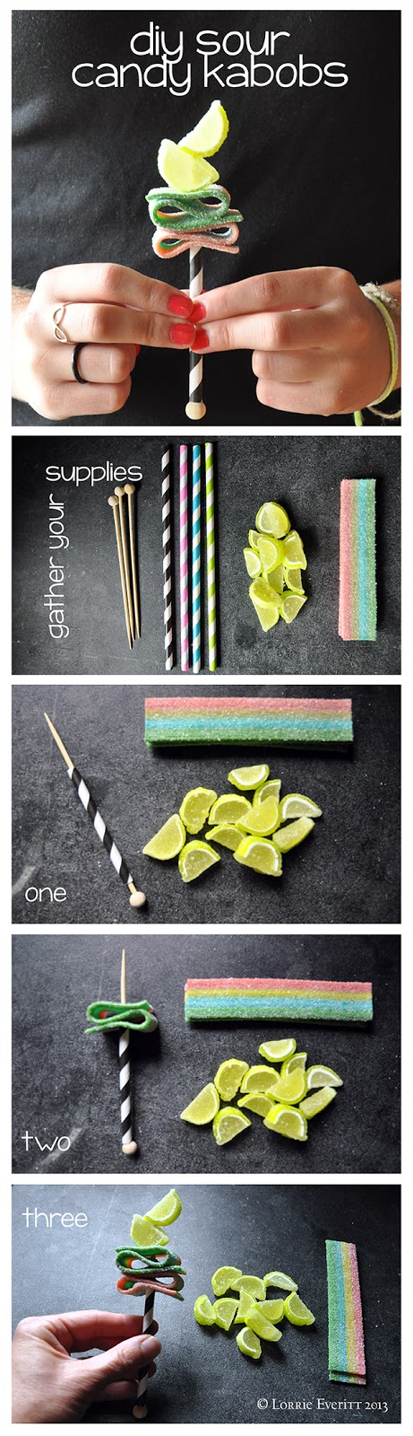 tutorial: create easy candy kabobs with or for the kids | Lorrie Everitt Studio