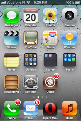 iphone home screen
