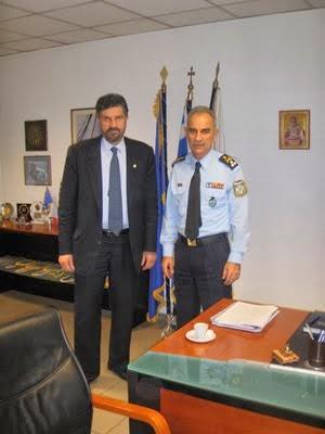 Με τον Δημήτρη Παπαδόπουλο Αρχηγό Αστυνομίας Βορείου Ελλάδος
