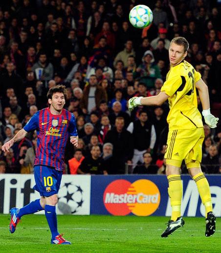 vídeo de los 5 goles de Messi en Champions