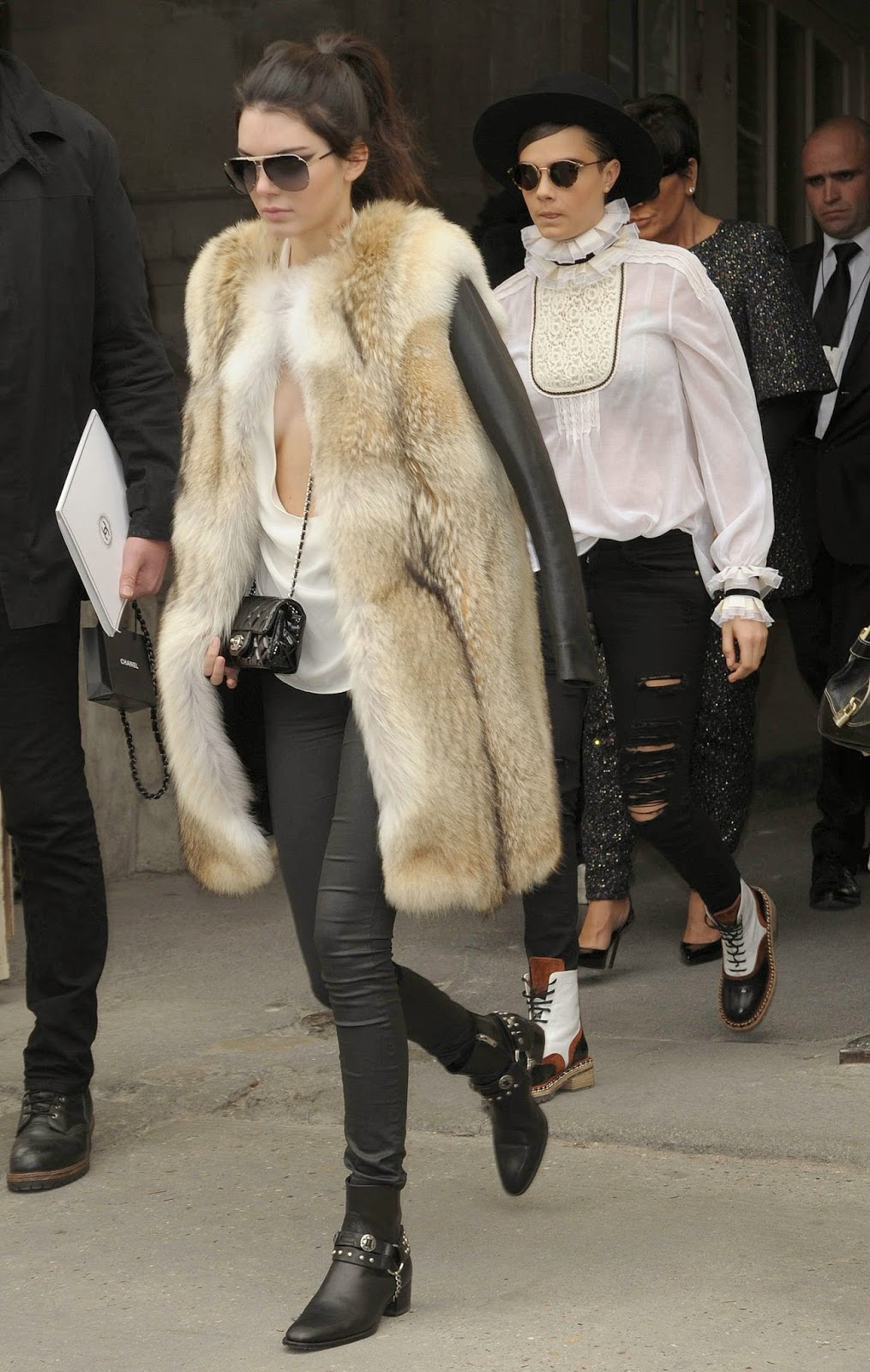Fashion Model, TV Personality @ Kendall Jenner Leaving the Chanel Fashion Show in Paris