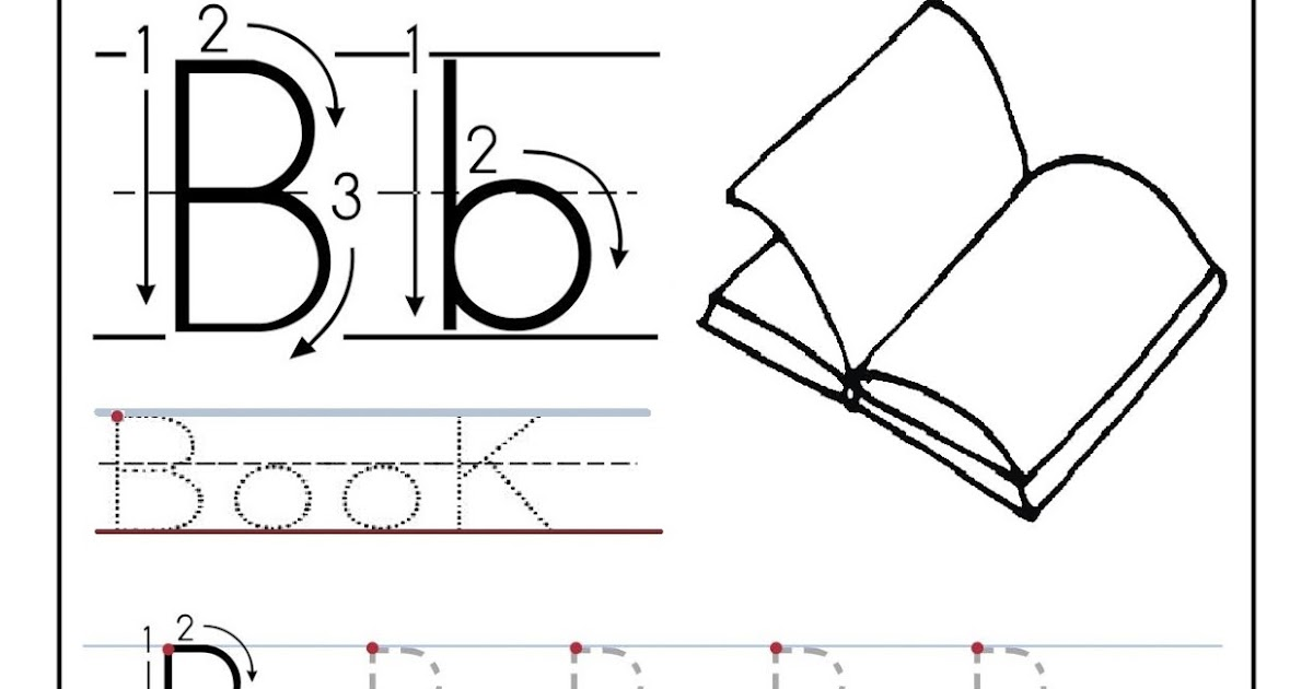 Free printable worksheet letter B for your child to learn and – Letter B Tracing Worksheets