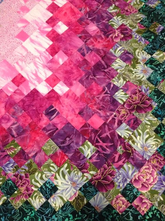 The Beyondness of Things: Blooming Nine Patch Quilt - Easy Four Patch Version