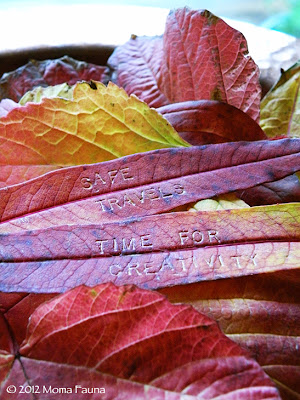 Autumn Equinox: This year, we send our messages on the leaves.