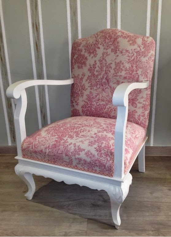 Madame vintage antiguas butacas recuperadas - Como tapizar sillas antiguas ...