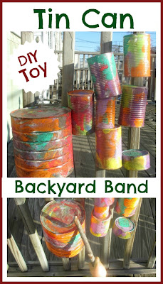 Tin can music toy