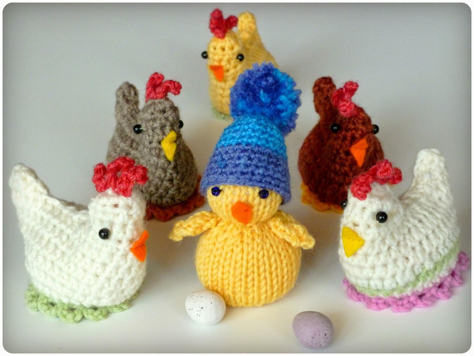 Contemporáneo Knitted Hen Pattern Ideas - Manta de Tejer Patrón de ...