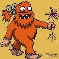 Handsome Yowie has a Flower