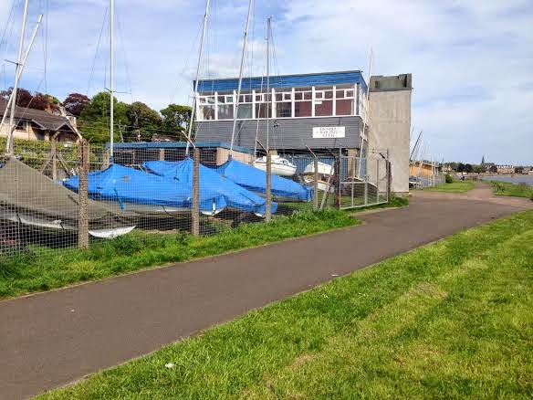 Dundee Sailing Club at Grassy Beach, Broughty Ferry