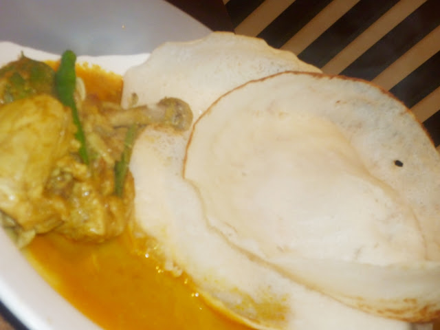 Appam Kerala with Chicken Mappas