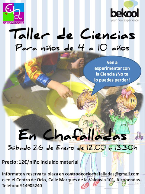 taller de ciencias bekool en Chafalladas