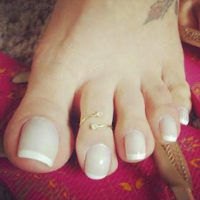 Long Nails: Rainha Grazi 's sexy long toe nails - 1