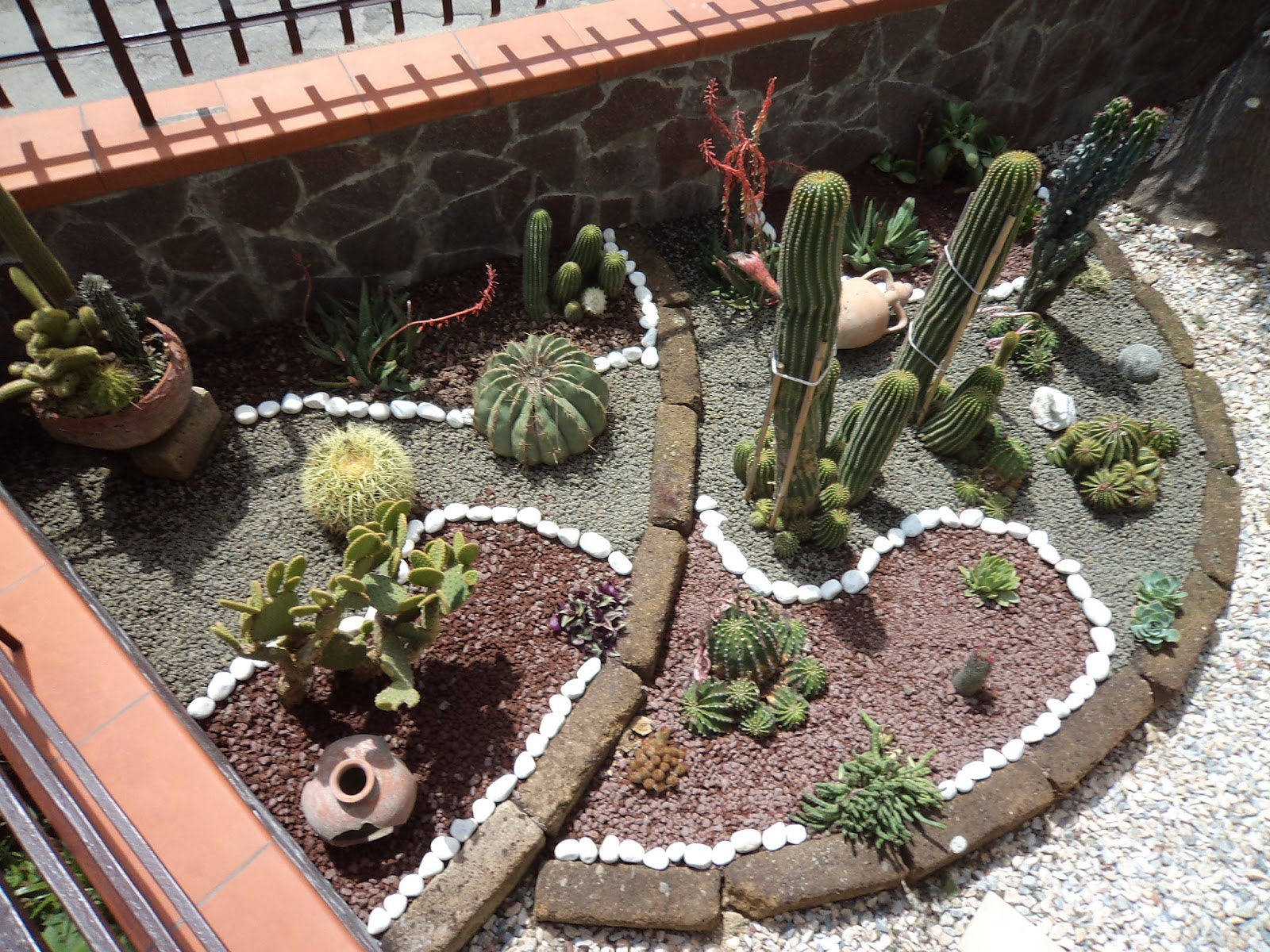 I giardini di carlo e letizia giardino di piante grasse - Giardino con sassi bianchi ...
