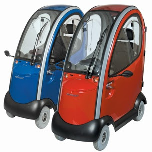 mobility scooters, all enclosed