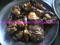 recipe of fried eggplant serves as a side dish