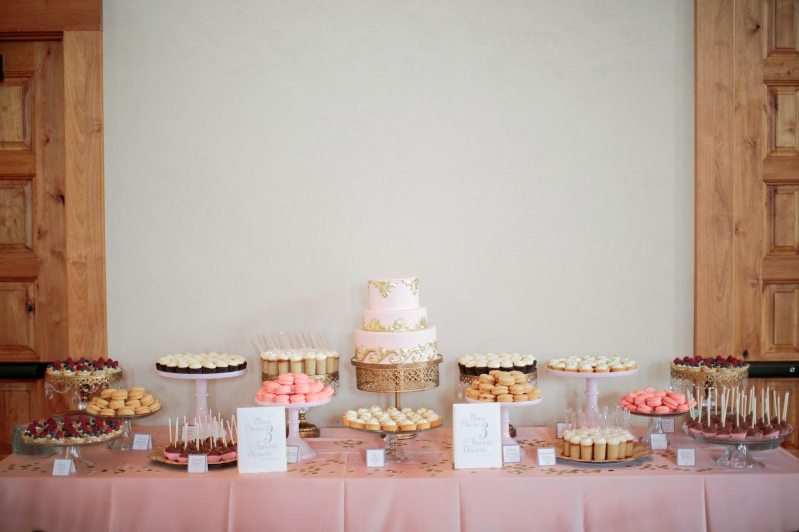 Blush Pink Gold Dessert Table Mindy And Thomas