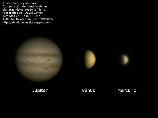 Planetas Mercurio Venus y Jupiter - El cielo de Rasal
