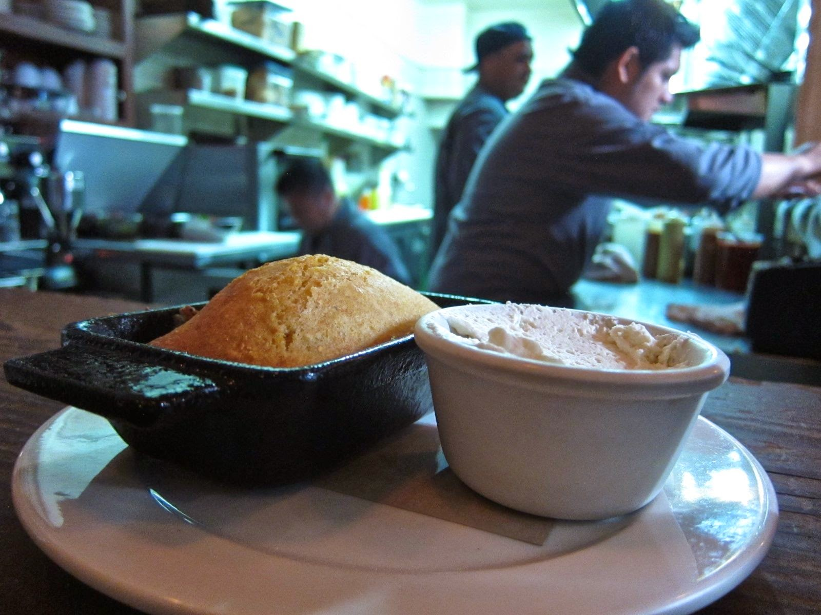 Fresh cornbread at Hops & Hominy, SF