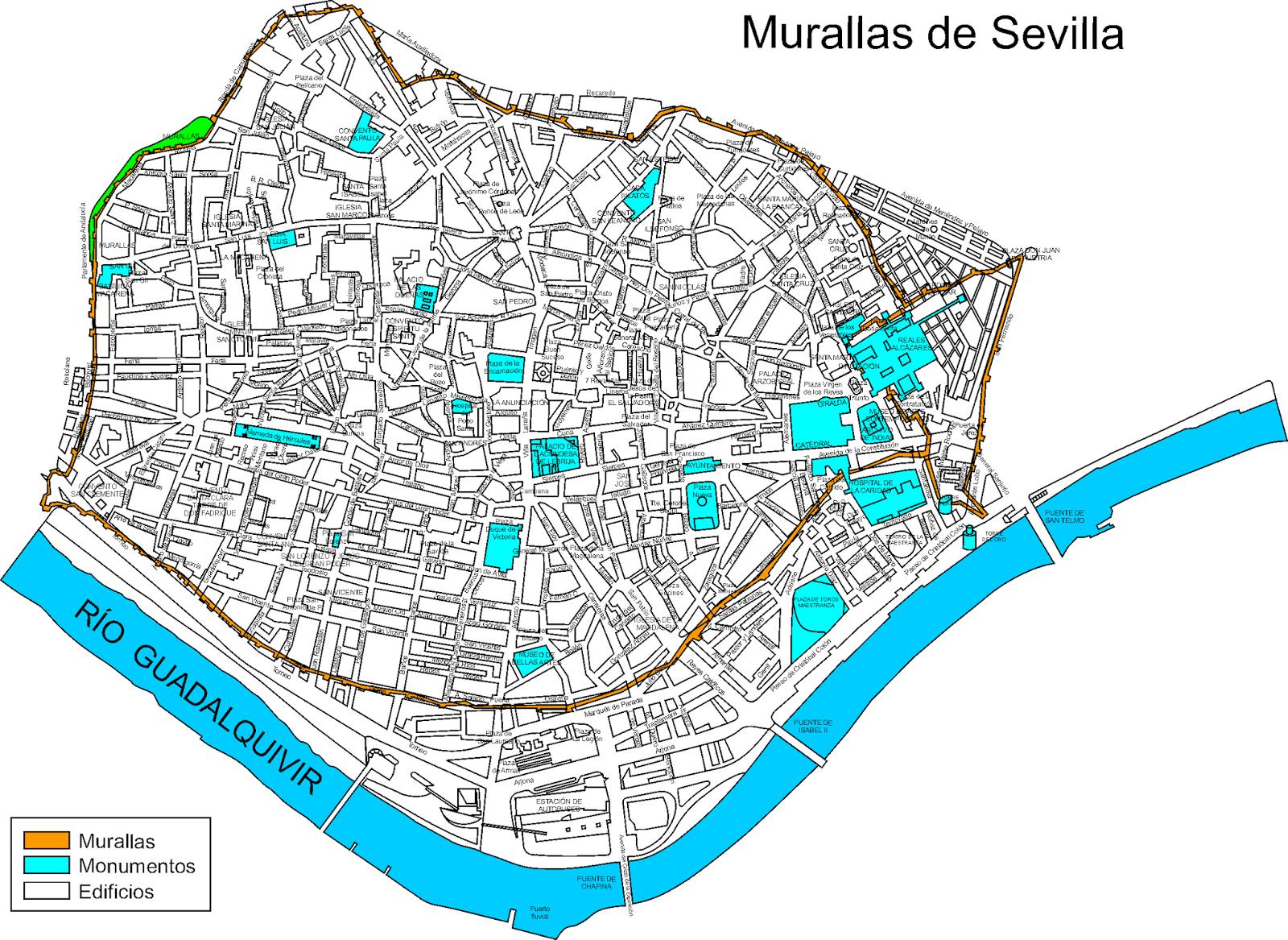 Las murallas de Sevilla