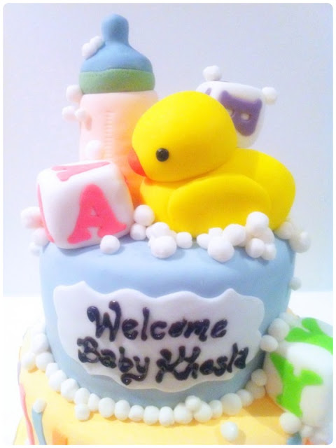 Cherie Kelly's Welcome Baby Boy Cake