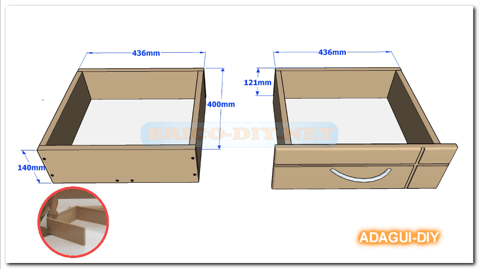 V deo como hacer gavetas y cajones de mdf para muebles - Como hacer cocinita de madera ...
