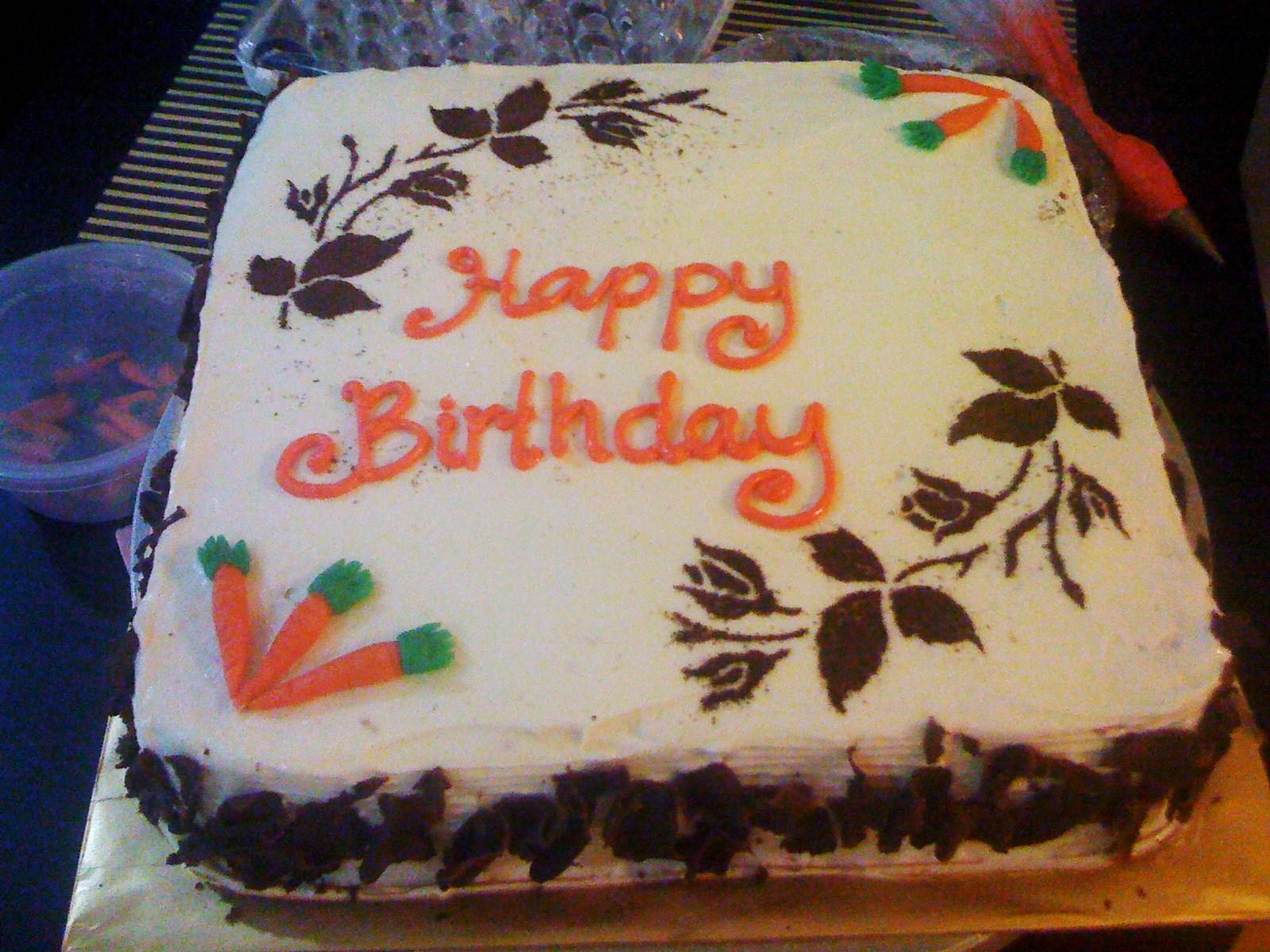 By Jalia Carrot Birthday Cake