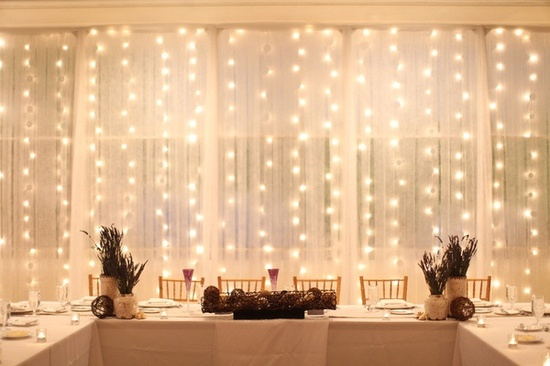 Curtain Wall Lighting : White wire curtain lights for weddings back in stock