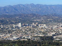 View northeast toward Glendale from Dante's View, Griffith Park