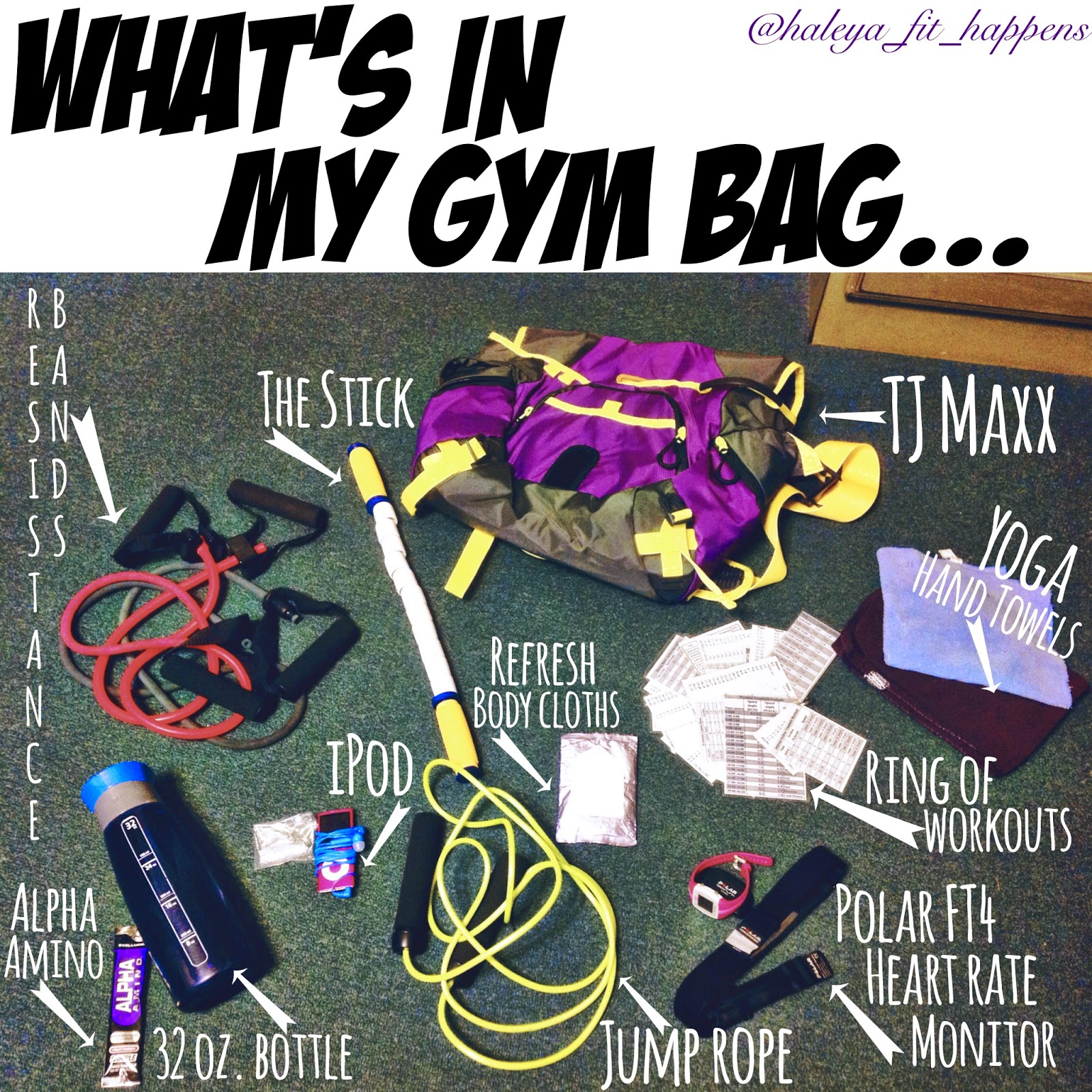 Fit Happens: What's In My Gym Bag