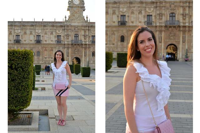 ruffles pink skirt tassel quilted bag ralph lauren purificacion garcia