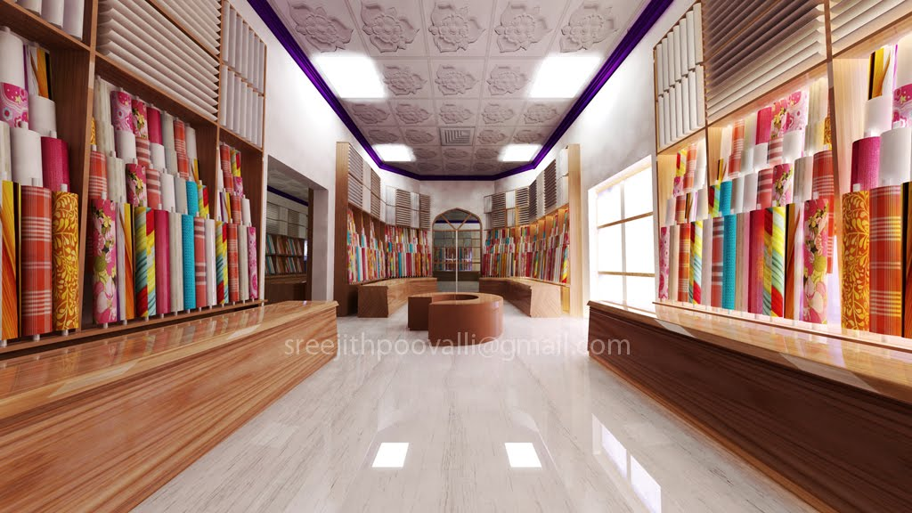 Interior Design For A Textile Showroom In Muscat Oman